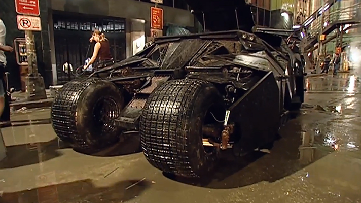 Batman nearly lost his Batmobile