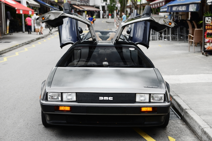 The Amount Of Attention Delorean Garners At Random Kopitiams Defies Logic First Order Upon Returning To Car Is Pulling Out A Piece Cloth