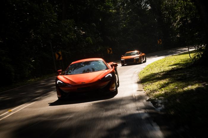 Agents Orange (Part 1) : McLaren 570S & Audi R8 V10 Driven [review]