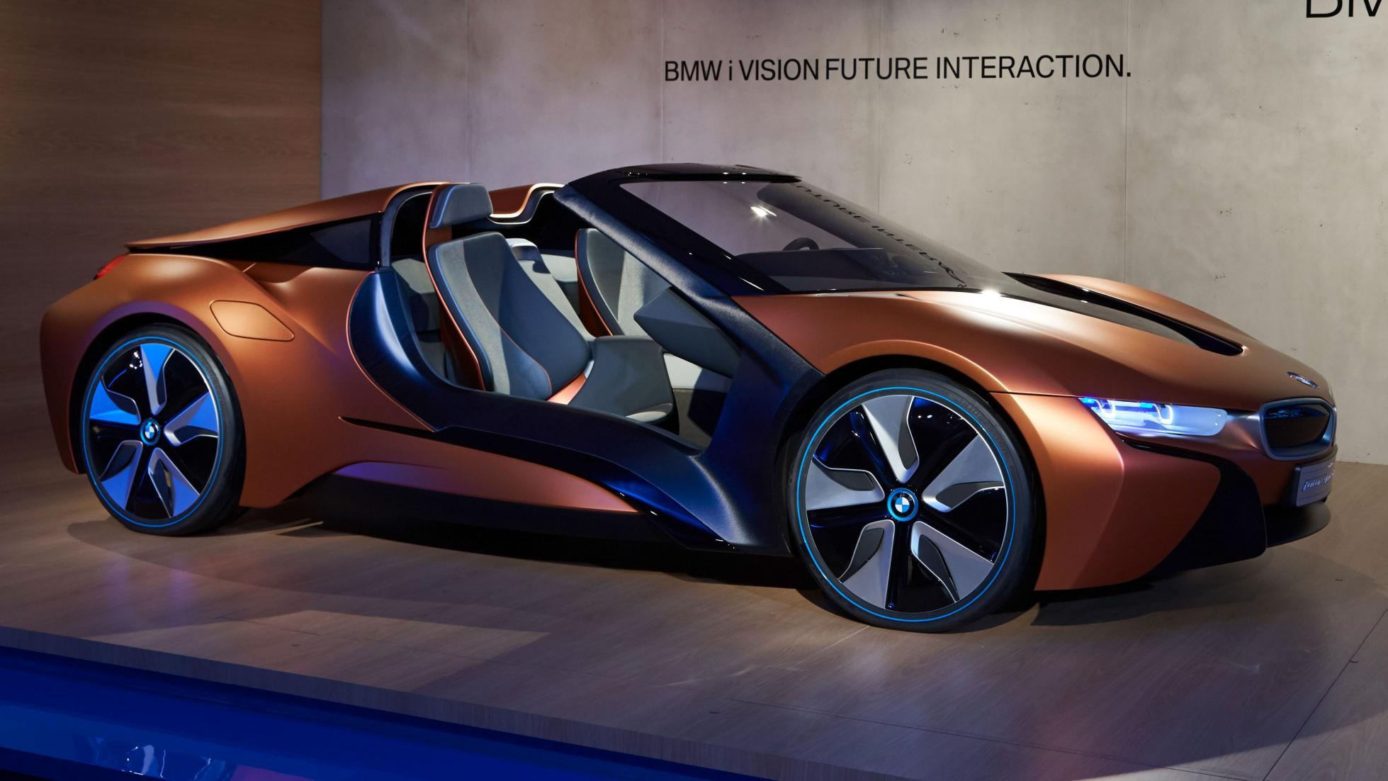 this bmw i8 concept previews the future of car electronics