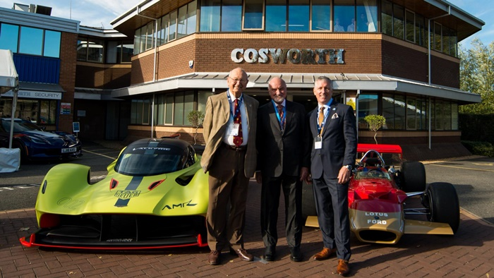 lou johnson cosworth60thanniversary sept2018 mikecostin kevinkalkhoven halreisiger