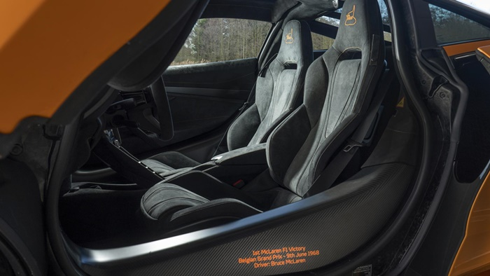 mclaren 720s spa 68 collection interior