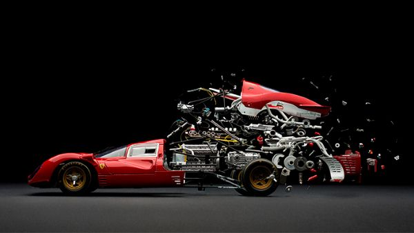 this is an exploded ferrari 330 p4