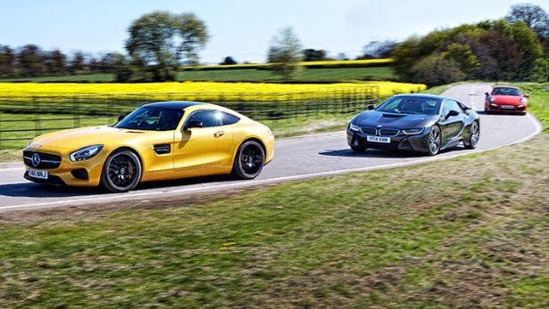 Merc Amg Gt Vs Porsche 911 Turbo Vs Bmw I8
