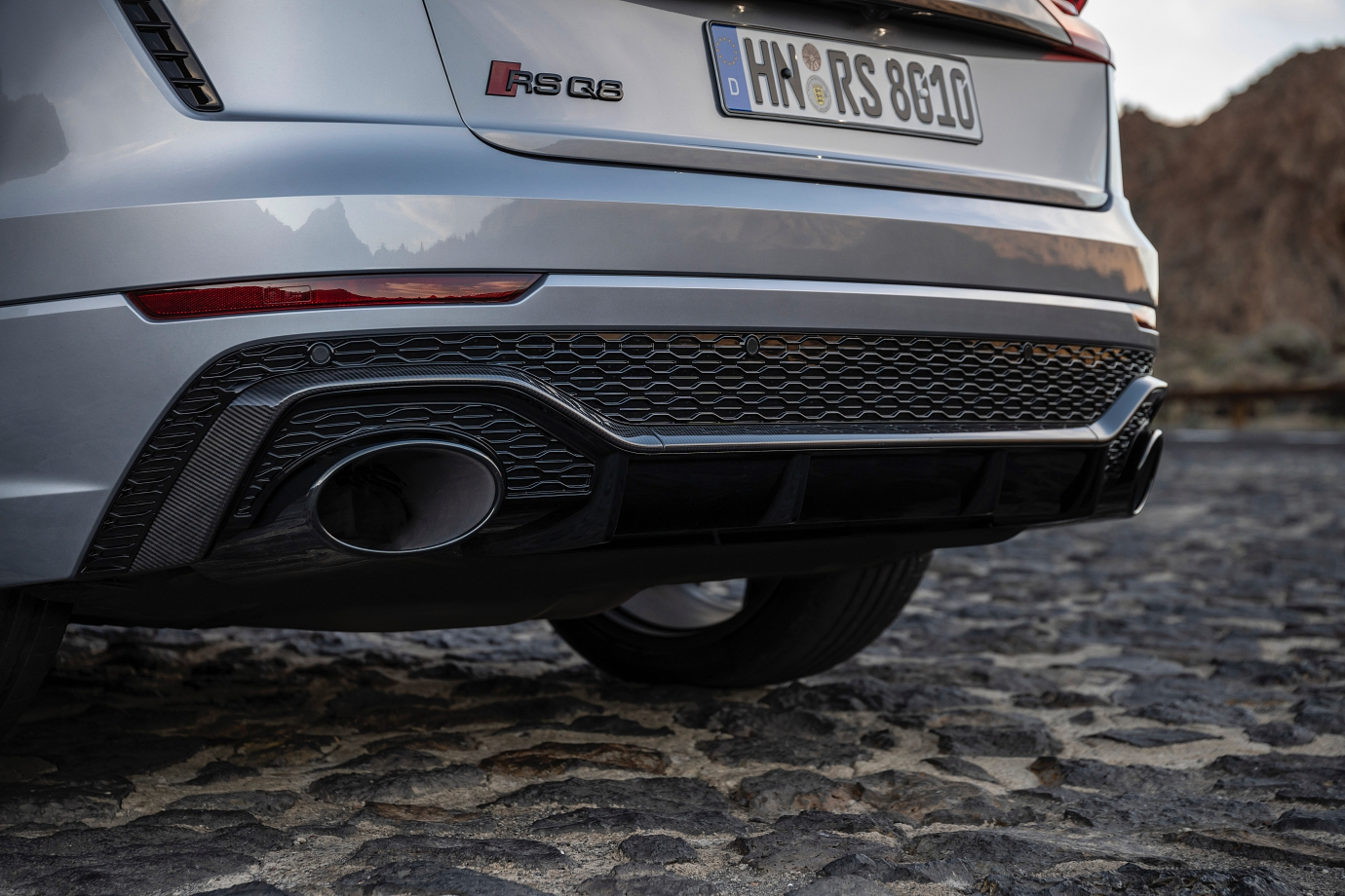 sports exhaust adds blackened tips to the oval tailpipes