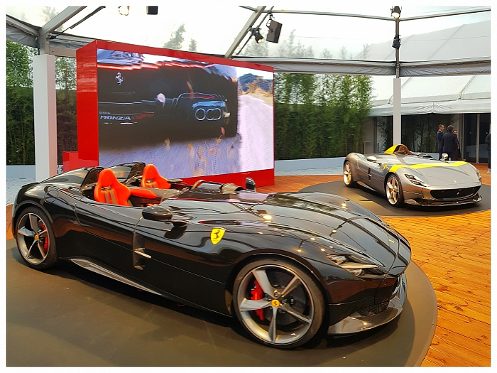 Monza SP1 & SP2 displayed at the Universo Ferrari exhibition