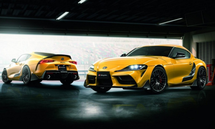 TRD adds much carbon to the Toyota Supra